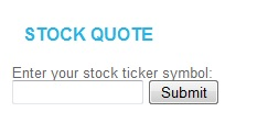 Stock Quote Widget
