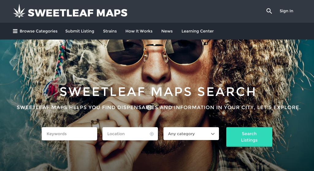 Sweetleaf Maps Marijuana Strains Plugin